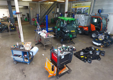 Reparatie inspectie tuinmachines